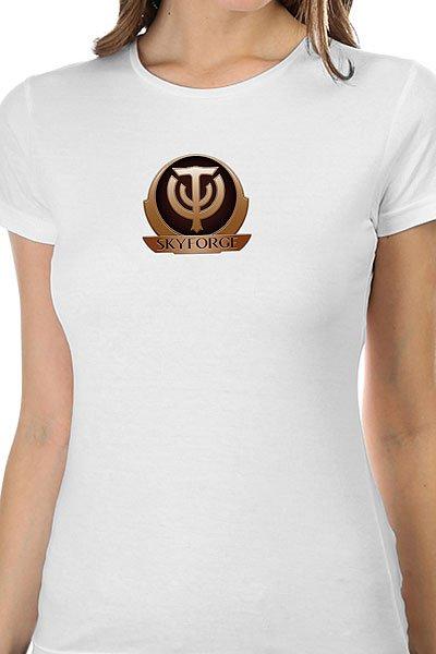 Футболка женская классическая Skyforge Logo Белая