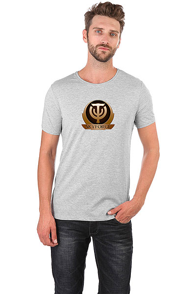 Футболка Wearcraft Premium Slim Fit Skyforge Logo Серый Меланж