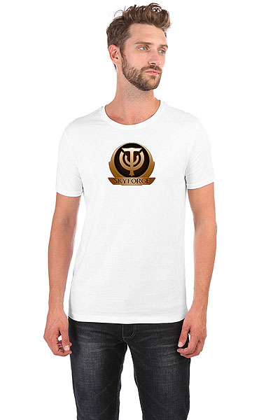 Футболка Wearcraft Premium Slim Fit Skyforge Logo Белая