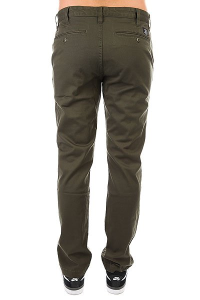 Штаны прямые DC Wrk Str Chino Fatigue Green