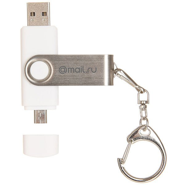 Usb-Флешка Mail.Ru Double Twist 16 Gb Logo Белая