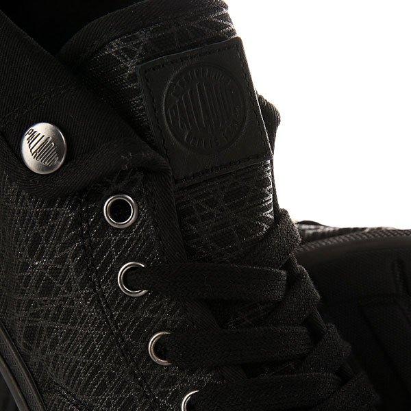 Кеды высокие женские Palladium Aventure Black/Black/Spider Print
