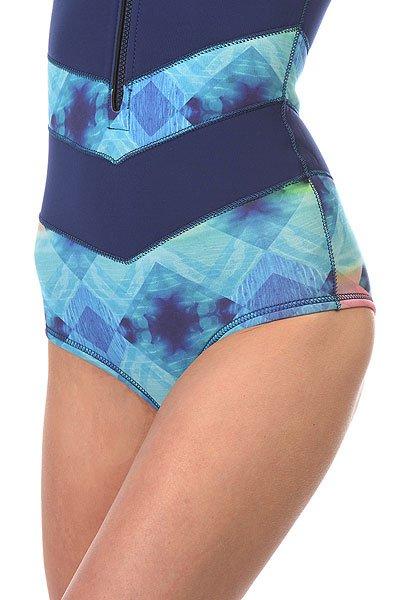 Гидрокостюм (Комбинезон) женский Roxy Pop Surf Onesie Blue Depths