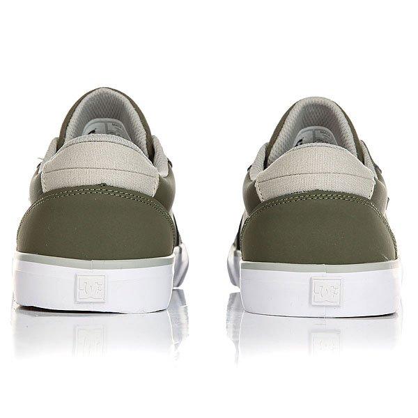 Кеды низкие детские DC Council B Green/Grey/White