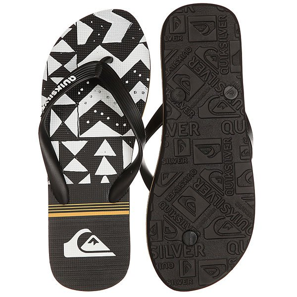 Вьетнамки Quiksilver Molokaislablapu Black/White/Orange
