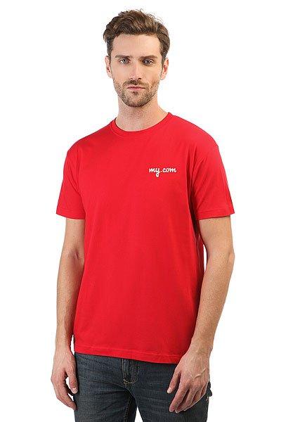 Футболка классическая My.com Logo Красная