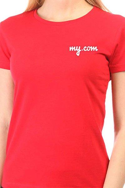 Футболка женская классическая My.com Logo Красная