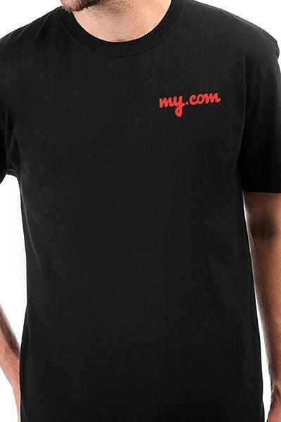 Футболка классическая My.com Logo Черная