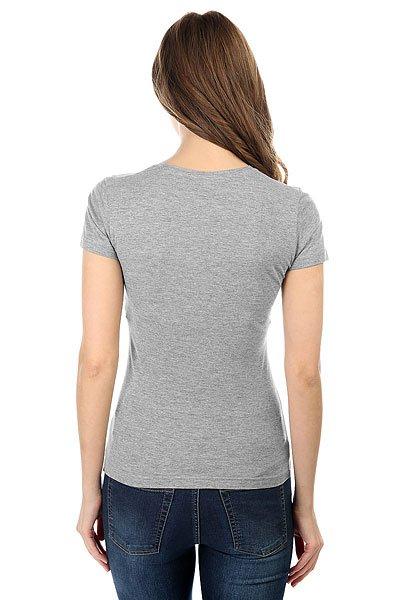 Футболка женская классическая My.com Logo Серый Меланж