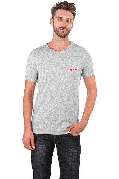 Футболка Wearcraft Premium Slim Fit My.com Logo Серый Меланж