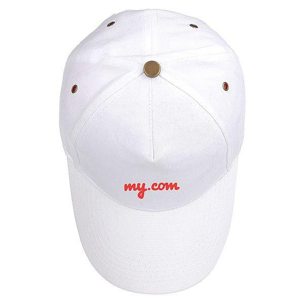 Бейсболка классическая My.com New York Logo Белая