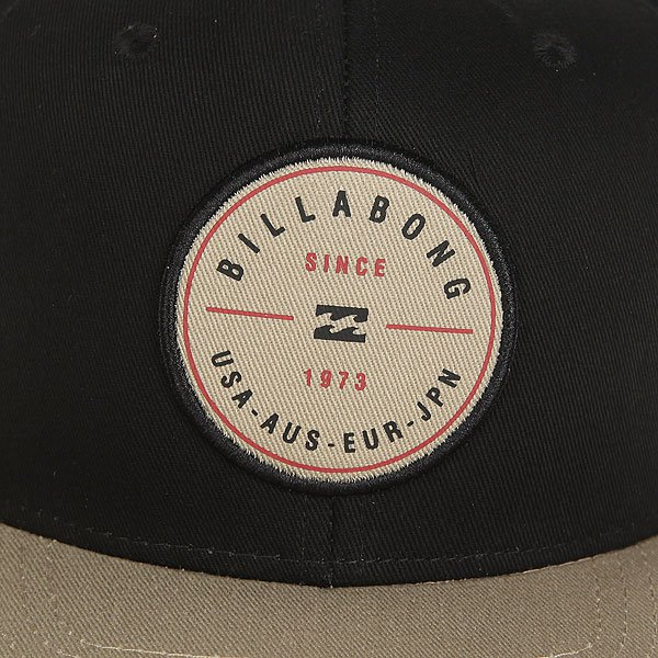 Бейсболка с прямым козырьком Billabong Rotor Snapback Black/Tan
