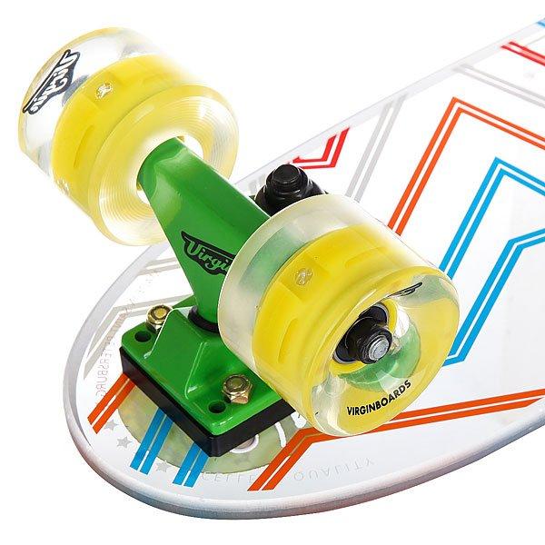 Скейт мини круизер Virgin Lines Clear/Yellow/Green