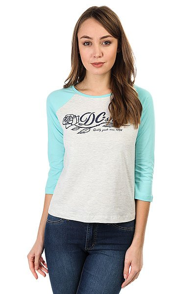 Лонгслив женский DC Shoes T-rose Raglan C Light Grey Heather