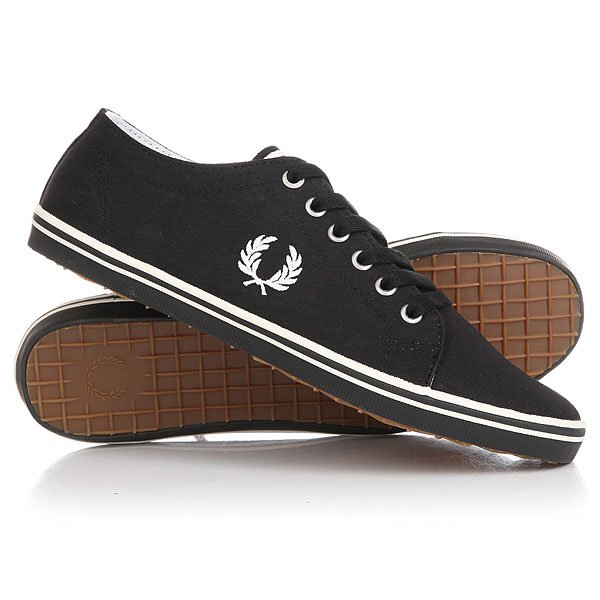Кеды низкие Fred Perry Kingston Twill Real Black