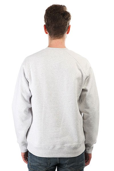 Толстовка свитшот Carhartt WIP Chase Sweatshirt Ash Heather/Gold