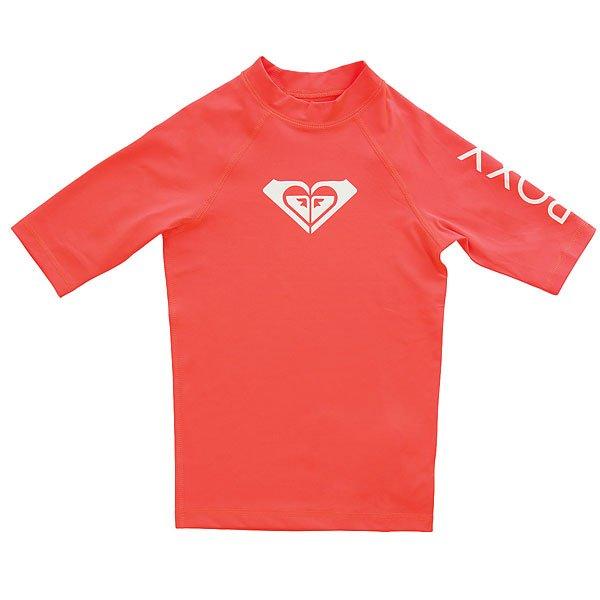 Гидрофутболка детская Roxy Wholeheartssgrl Neon Grapefruit