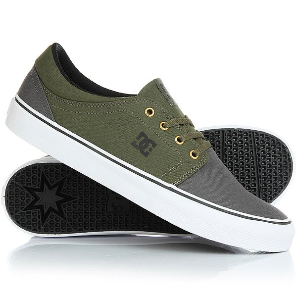 Кеды низкие DC Trase Tx Real Grey/Black/Green