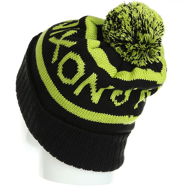 Шапка носок Nixon Teamster Beanie Black/Lime