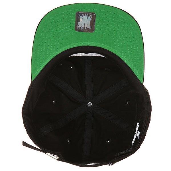 Бейсболка с прямым козырьком Undefeated Undftd Applique Strapback Cap Black