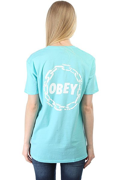 Футболка женская Obey Obey Jumble Chain Turquoise