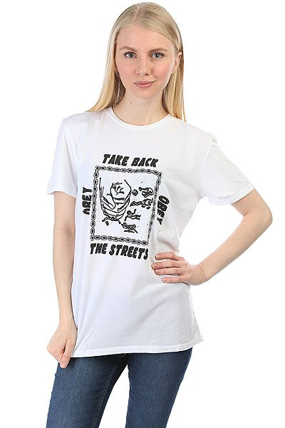 Футболка женская Obey Take Back The Streets Optic White
