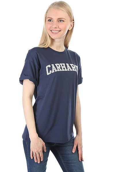 Футболка женская Carhartt WIP Carrie Yale Blue/White