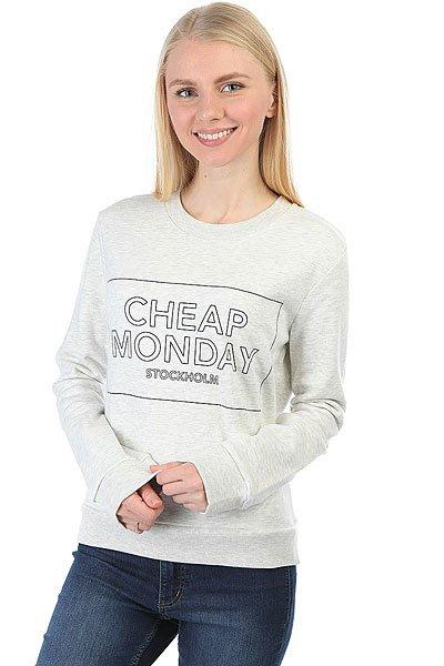 Толстовка классическая женская Cheap Monday Win Sweat Thin Box Light Melange