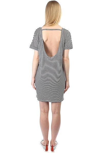 Платье женское Obey Right Above Dress Dusty Navy Stripe
