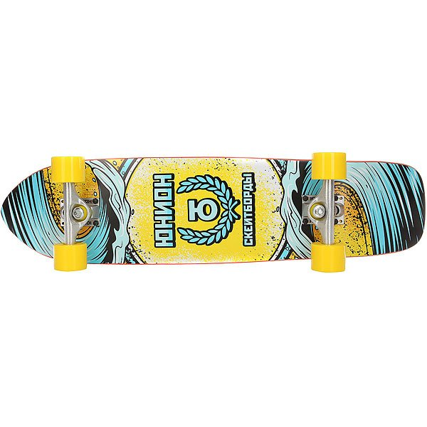 Скейт круизер Юнион Wave Yellow/Light Blue 7.8 x 32 (81.2 см)
