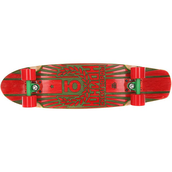 Скейт круизер Юнион Rose Red/Green 7.6 x 29.5 (75 см)