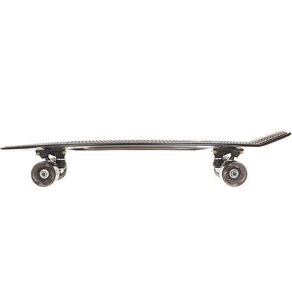 Скейт мини круизер Пластборд Black Grey 7.25 x 27 (68.5 см)