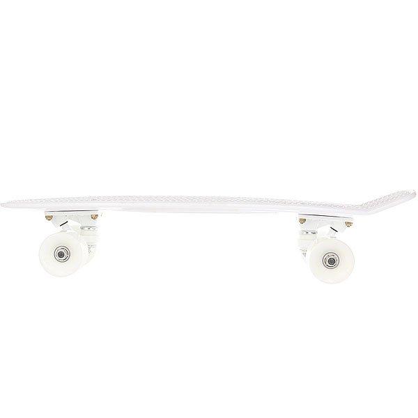 Скейт мини круизер Пластборд Snow Real White 6 x 22.5 (57.2 см)