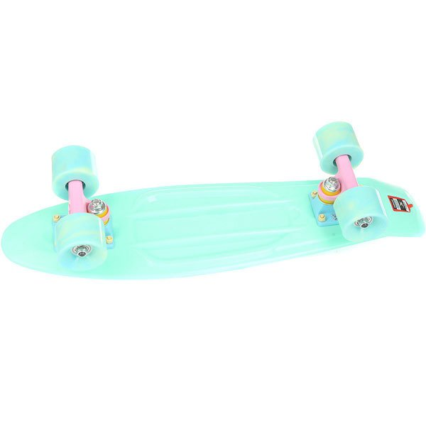 Скейт мини круизер Пластборд Mint Light Green 6 x 22.5 (57.2 см)