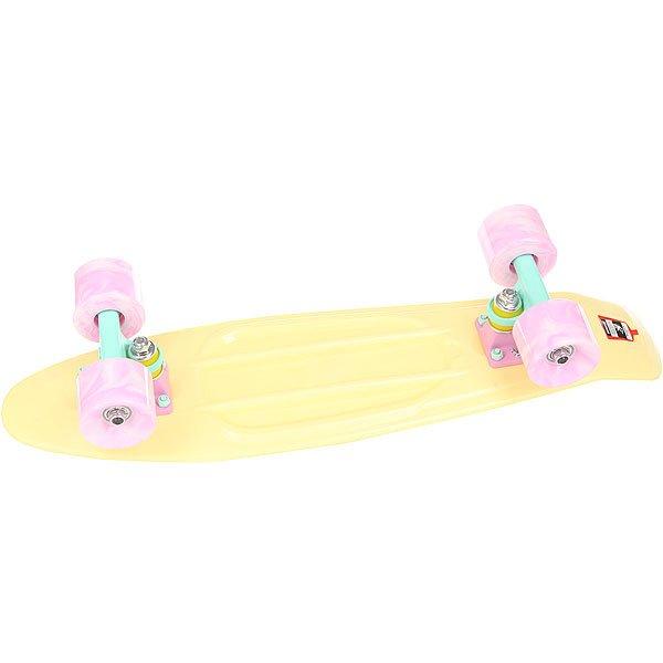 Скейт мини круизер Пластборд Lime Yellow 6 x 22.5 (57 см)