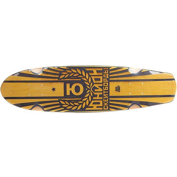 Дека для лонгборда Юнион Sunset Yellow/Black 7.6 x 29.5 (75 см)