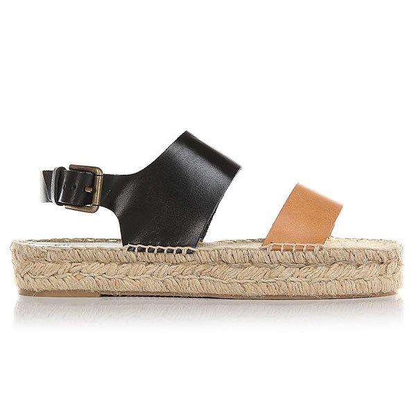 Сандалии женские Soludos Bi-color Platform Sandal Nude/Black