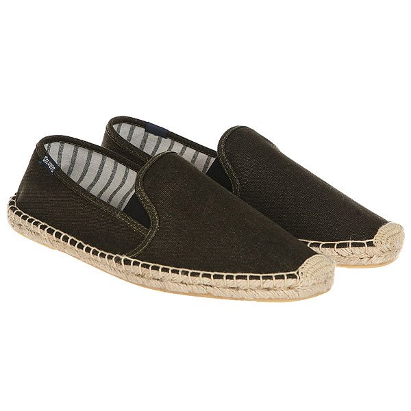 Эспадрильи Soludos Smoking Slipper With Gore Moss