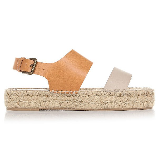 Сандалии женские Soludos Bi-color Platform Sandal Ivory/Nude