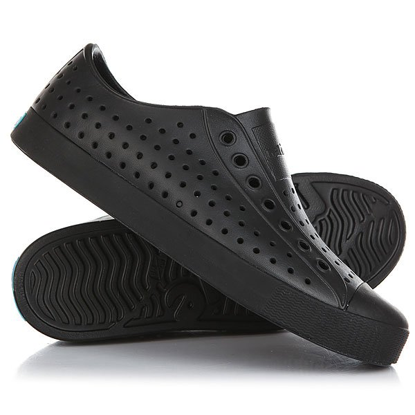 Кеды низкие Native Jefferson Jiffy Black/Jiffy Black