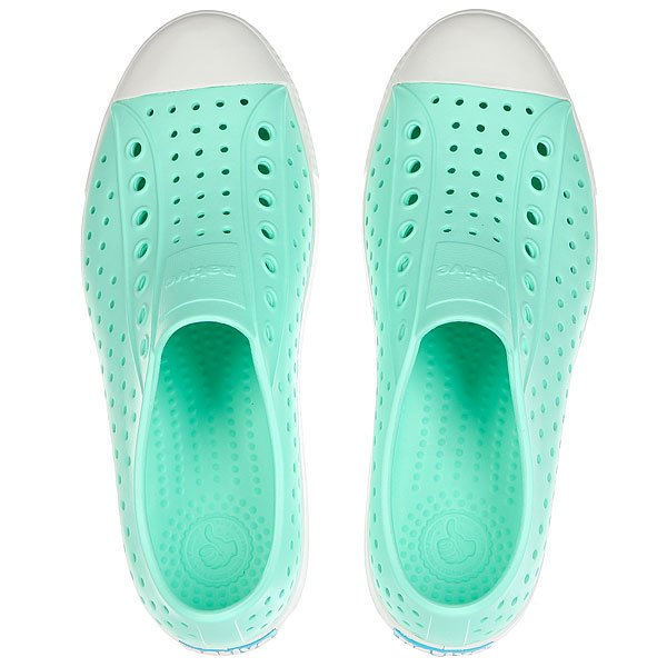 Кеды низкие Native Jefferson Glass Green/Shell White