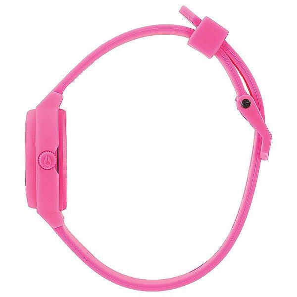 Кварцевые часы женский Nixon Small Time Teller Hot Pink