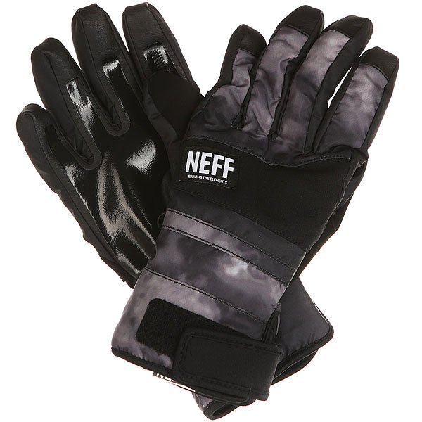 Перчатки сноубордические Neff Digger Glove Black/Crystal
