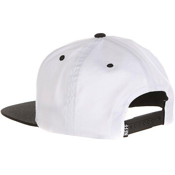 Бейсболка с прямым козырьком Neff Wordplay Cap White