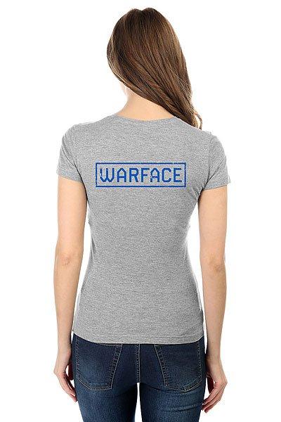Футболка женская классическая Warface Wings Серая