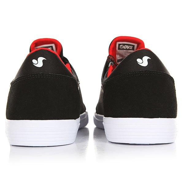 Кеды низкие детские DVS Stratos Lt+kids Black/Red/Suede