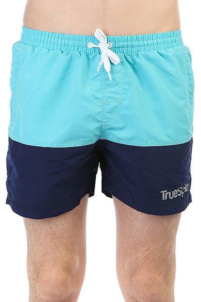 Шорты пляжные TrueSpin Basics Swim Shorts Light Blue/Navy