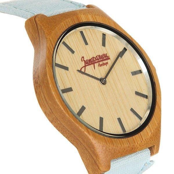 Кварцевые часы Запорожец Бамбук Голубой
