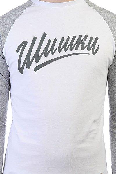 Лонгслив Запорожец Шишки Белый/Серый
