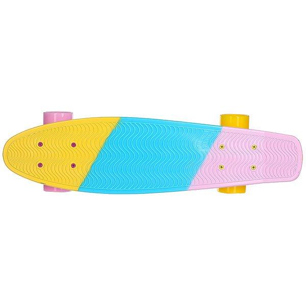 Скейт мини круизер Пластборды Cranberry Yellow/Light Blue/Pink 6 x 22.5 (57.2 см)